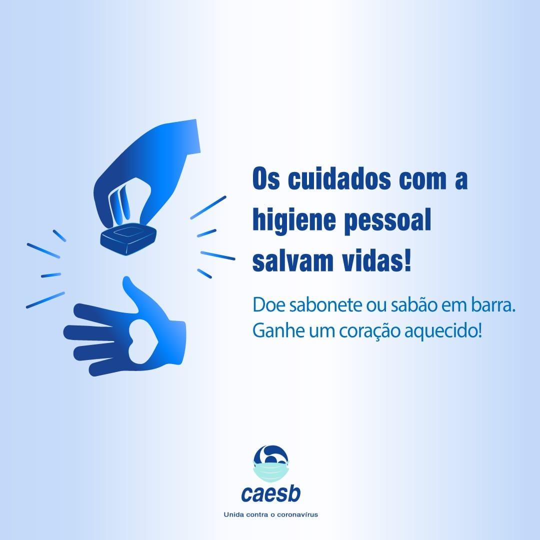 Caesb lança campanha solidária para arrecadação de sabonetes   Ao ...