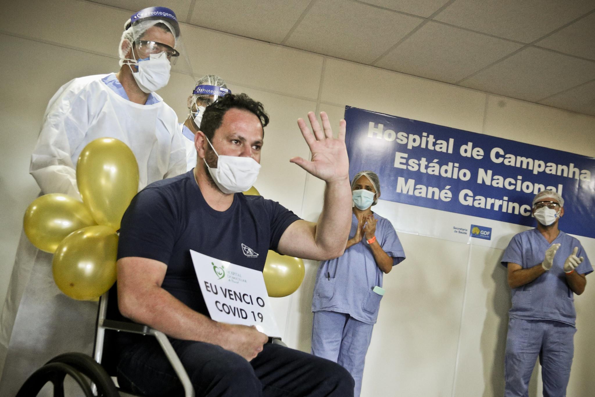 recuperados covid coronavirus brasilia distrito federal hospital de campanha estadio nacional
