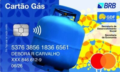 Cartão Gás GDF BRB